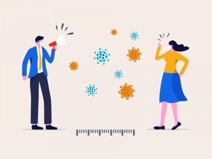 疾控专家:社交距离1米以上 新冠传播风险降低82%